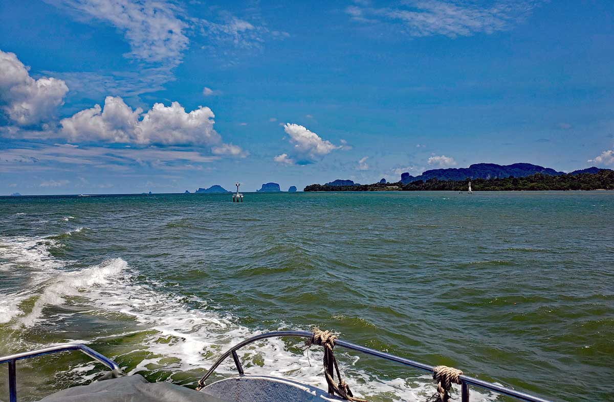 View of the Andaman Sea from the Andaman Sea Master Krabi - Phi Phi island.