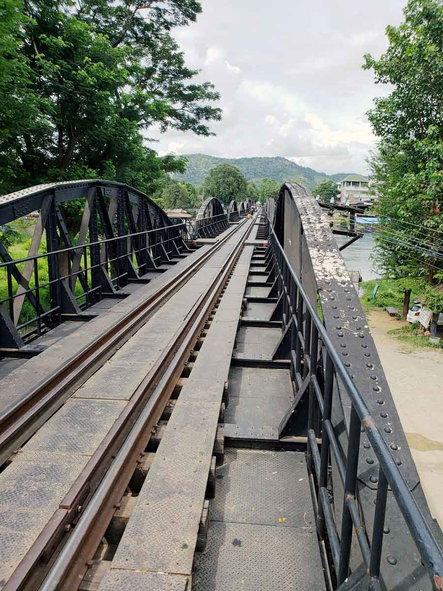 A view of the Bridge on the River Kwai.