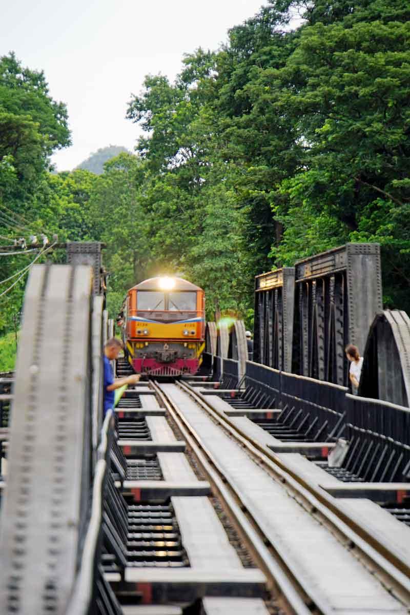 Train coming over the Bridge.