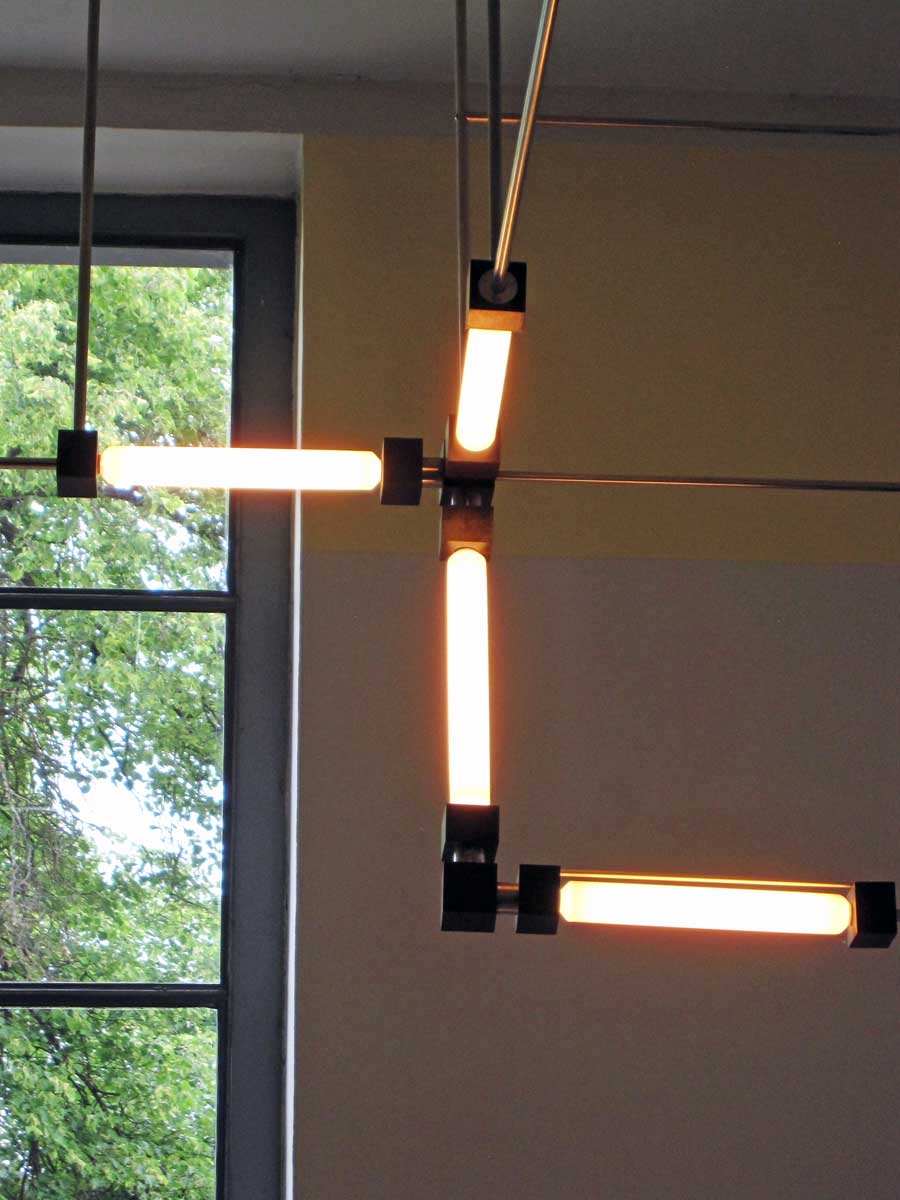 The light fixture in Walter Gropius' office.
