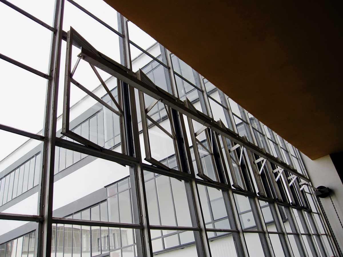 Ventilation window system at the Bauhaus University Dessau.