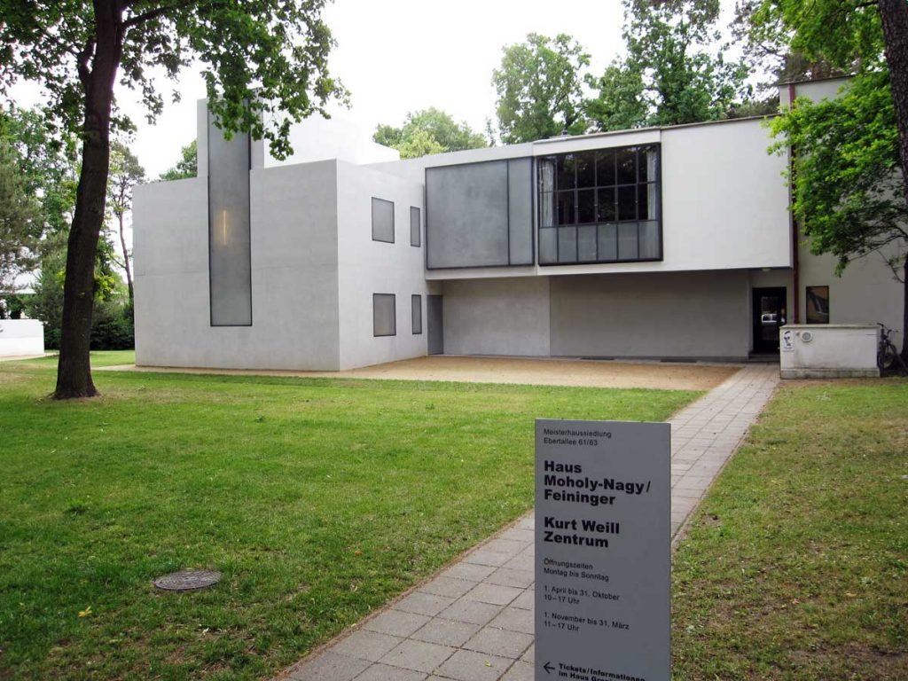 "One of the ""Meisterhauses"" in Dessau, this one designed by László Moholy-Nagy and Lyonel Feininger."
