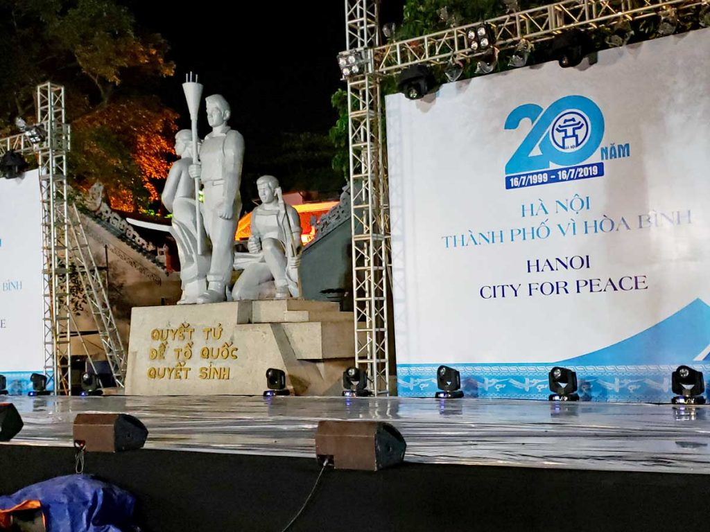 Hanoi City of Peace stage.
