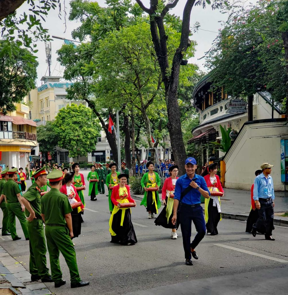 Hanoi City of Peace parade on Saturday July 13 2019.