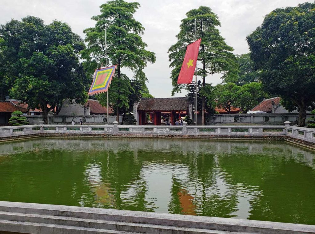 The big Koi pond is called Thien Quang well and is in the third courtyard.