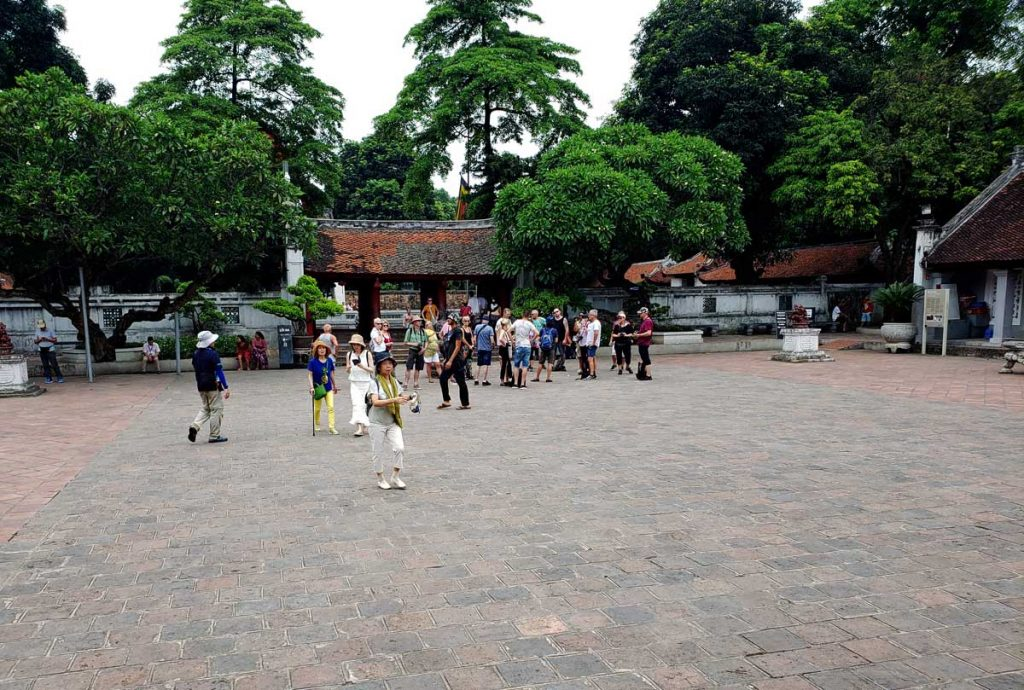The fifth courtyard at the Temple of Literature.