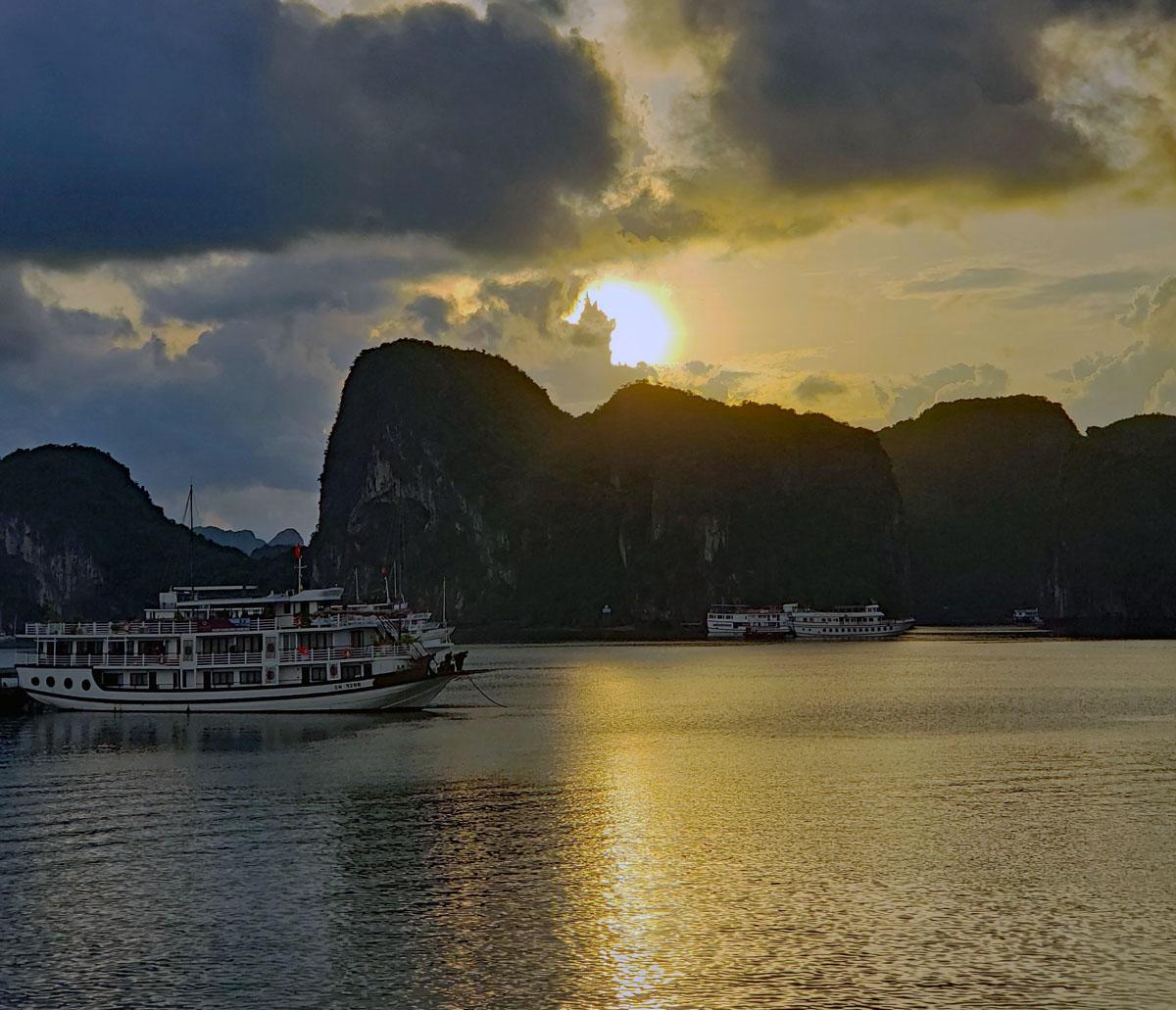 Ha Long Bay in the Gulf of Tonkin Vietnam