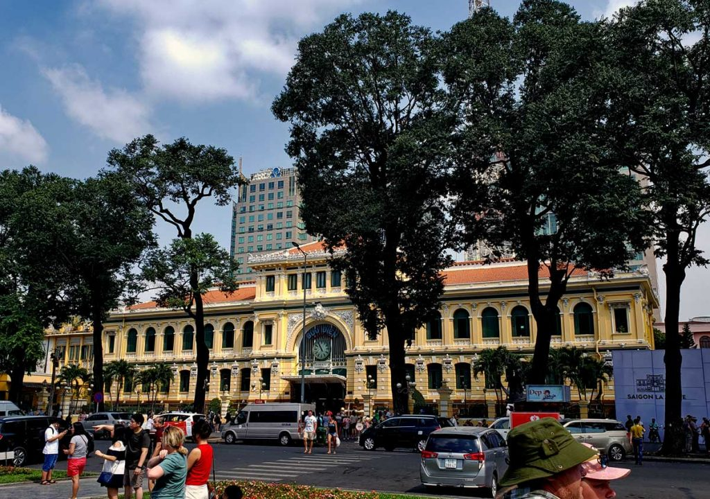 Saigon Central Post Office.
