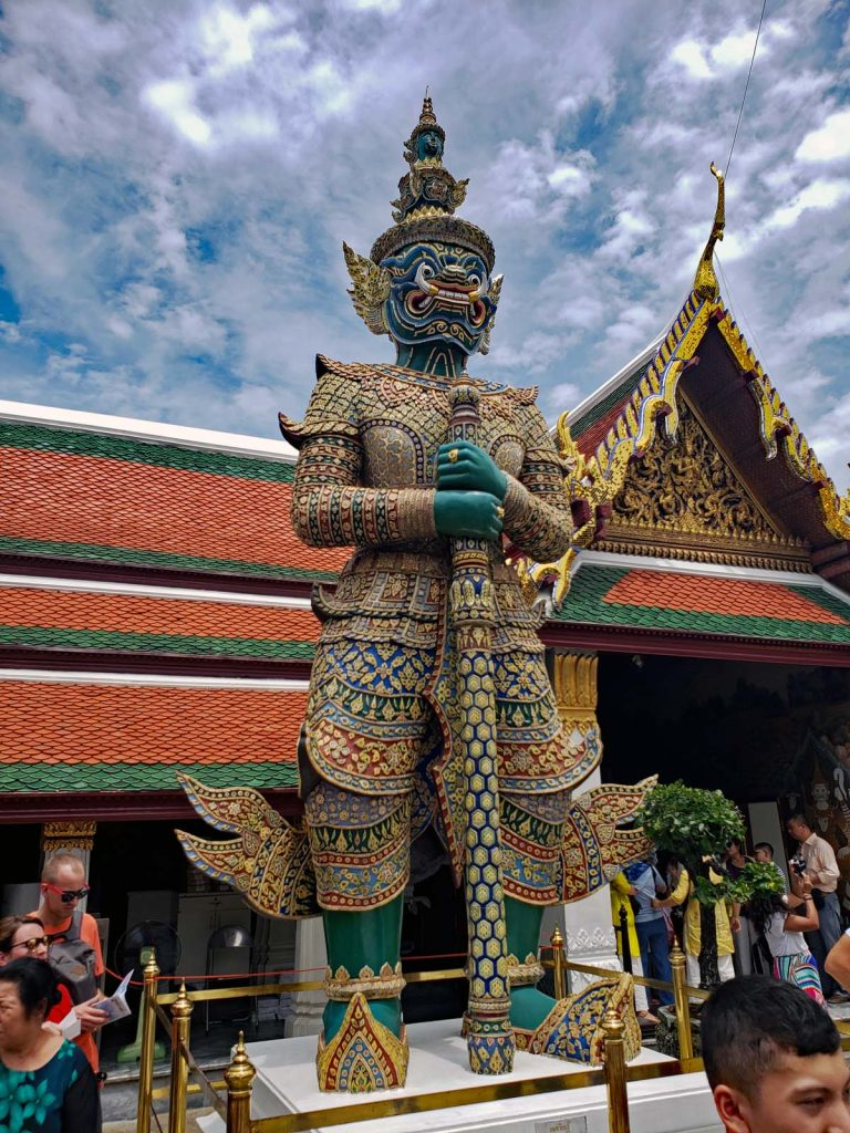 A warrior guard at the Grand Palace