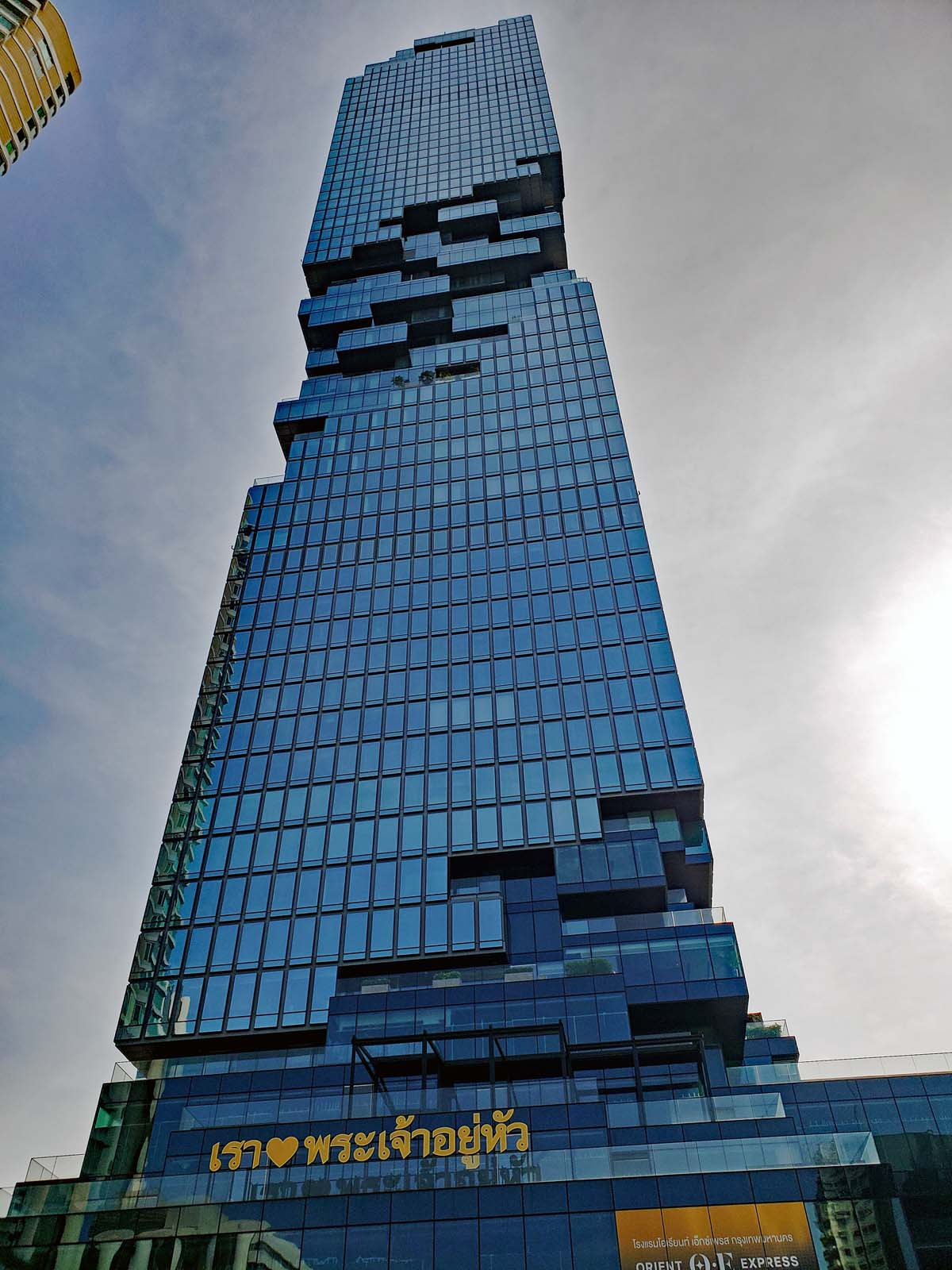"Mahanakhon up close, with the ""twisted"" body."