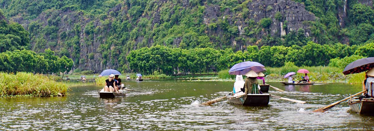 Ninh Binh Red River Vietnam
