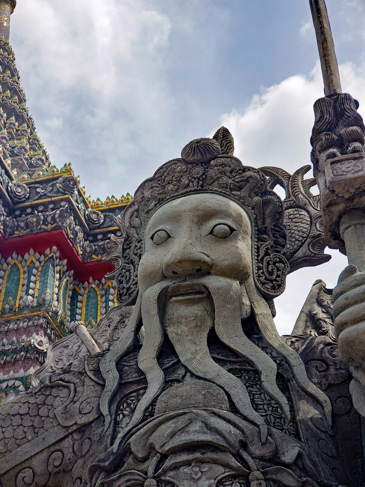Warrior statue at Wat Pho