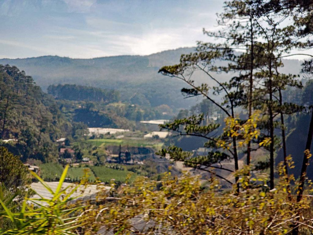 Here is a view of the valley where Thac Prenn, the Prenn waterfall is located in the Da Lat area of the Lam Dong province.