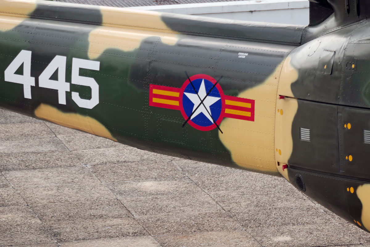 I thought this might be a fitting ending picture with the US Air Force National marking X-ed over on the tail of the Huey 445.