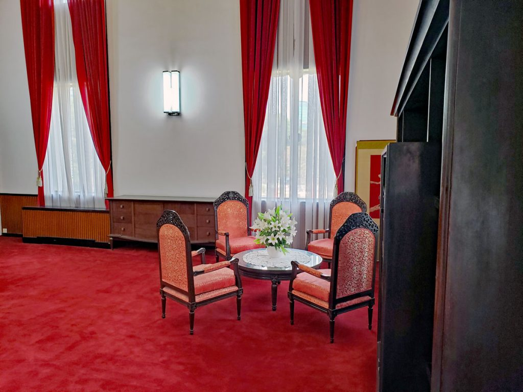 The President's office sitting area