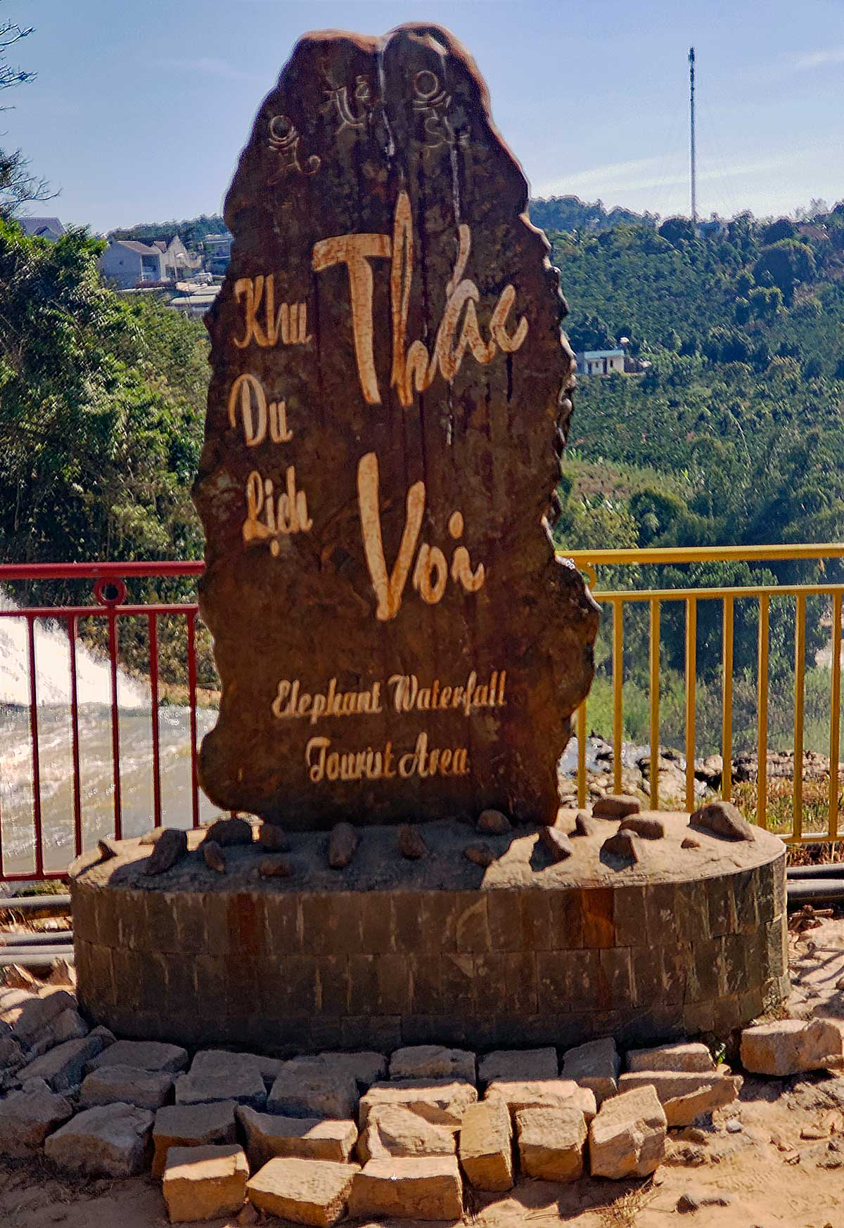 Sign at Thac Voi - Elephant falls