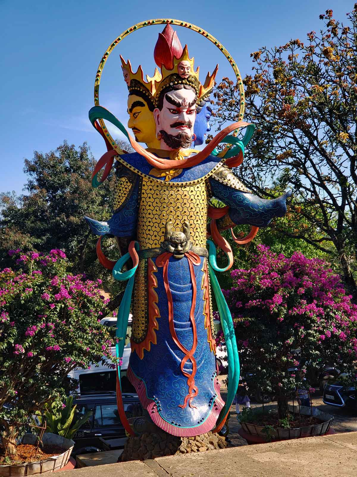 "Here is a ""companion"" figure to the big Buddha."