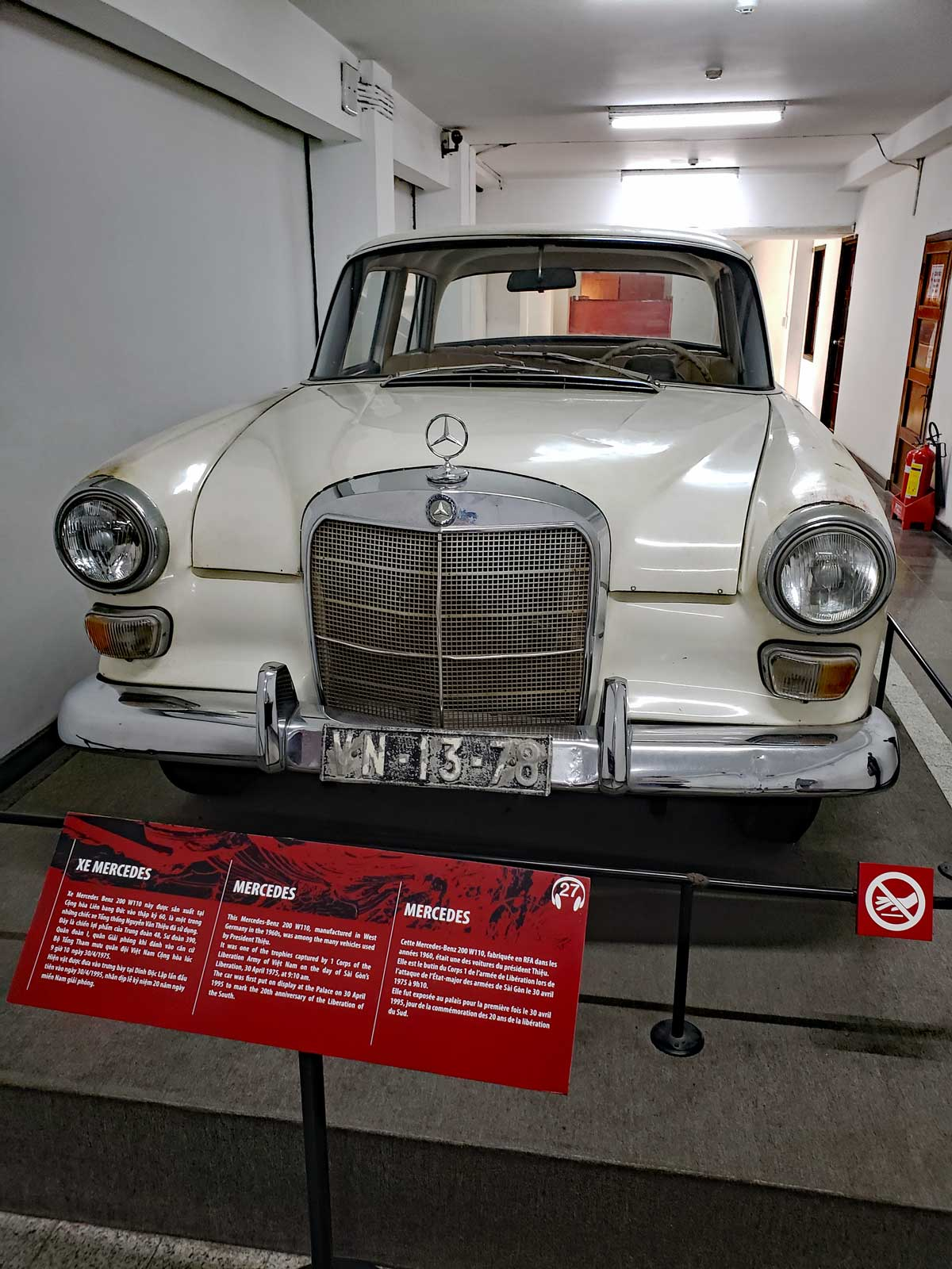 This Mercedes Benz 200 was also frequently used by the South Vietnamese President.