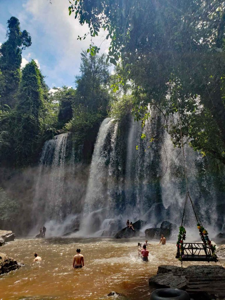 Siem Reap River headwaters up on the Kulen mountain has some spectacular waterfalls on it's way down the mountain.