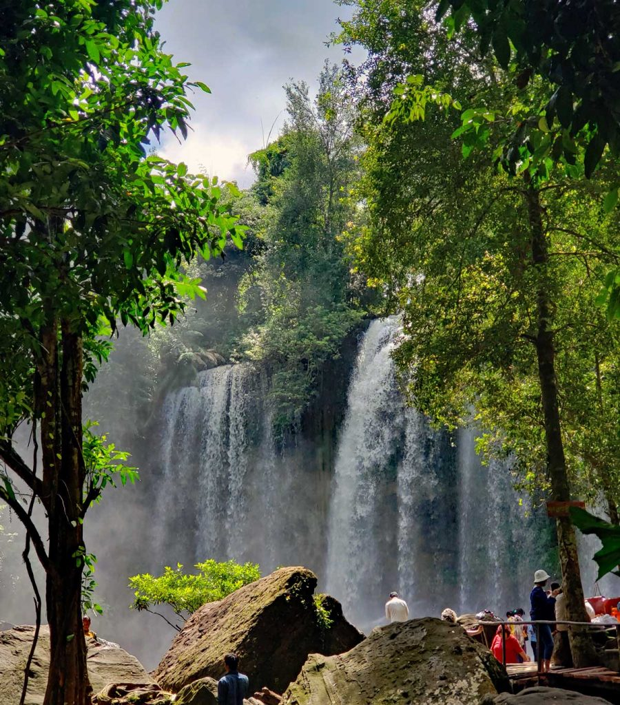 Kulen falls. The plunge-pool is perfect for swimming and trunks and change boot can be rented if you did not bring trunks.