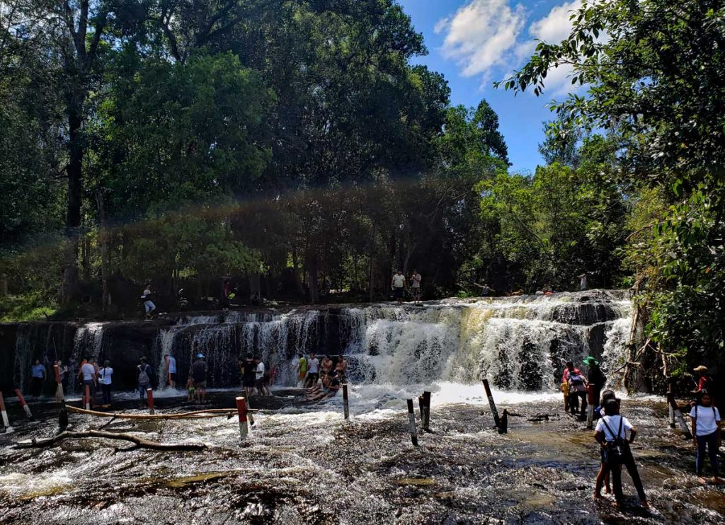 These are the upper falls of the river up on the Kulen mountain.